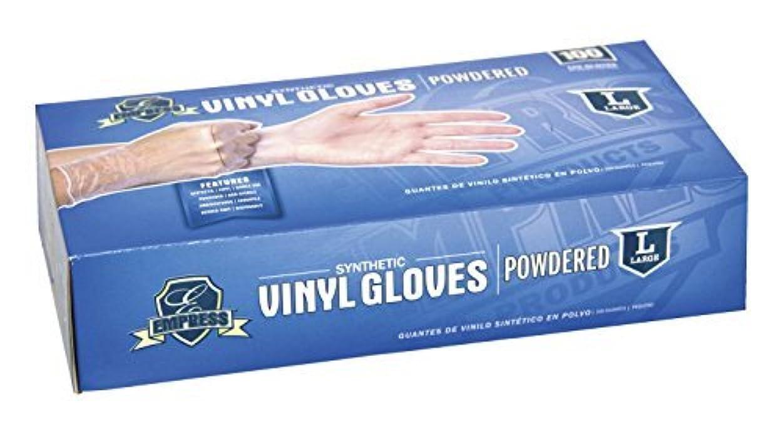 グラフィック矢印適切にEmpress Disposable Latex Free Powdered Vinyl Gloves,Large,Pack of 100 [並行輸入品]