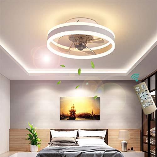 Deckenventilator Mit Beleuchtung, Fernbedienung Leise Moderne Led Mit Licht Wohnzimmer Ventilator Deckenleuchte Ventilatorlicht für Wohnzimmer, Schlafzimmer Kinderzimmer Esszimmer ( Farbe : Weiß )