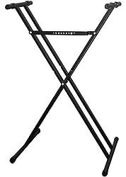 professional Casio ARDX Double-X Adjustable Keyboard Stand, Black