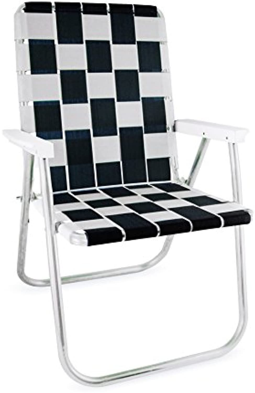 Lawn Chair USA Tailgating Chairs (Black  White)