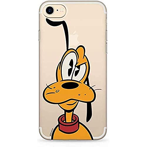 Estuche para iPhone 7, 8, SE2 Disney Pluto Original con Licencia Oficial, Carcasa, Funda, Estuche de Material sintético TPU-Silicona, Protege de Golpes y rayones