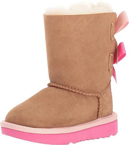 UGG girls Bailey Bow Ii Boot, Chestnut Pink Azalea, 9 Toddler US