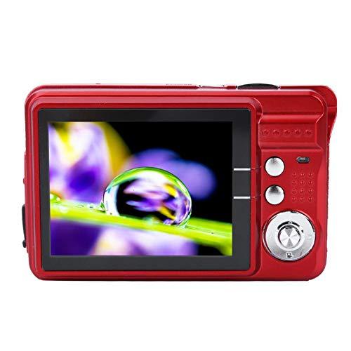 Vcriczk 94 * 60 * 24 mm USB 2.0 2.7 Pulgadas 3 Colores Cámara Digital para niños, Cámara para niños, Niños para niños Niñas Niños pequeños(Red)