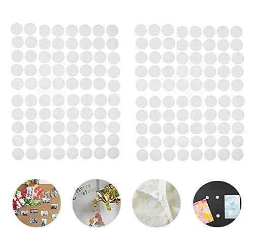 600 Pares Velcr Adhesivo Redondo, Lunares Adhesivo 10mm Velcr Adhesivo Cintas Autoadhesivo Puntos...