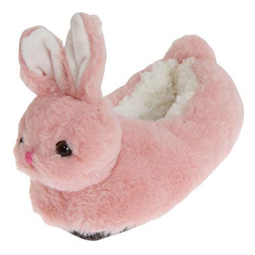 SlumberzzZ Kinder Flauschige Bunny Hasen Hausschuhe (30-31 EU, Rosa)
