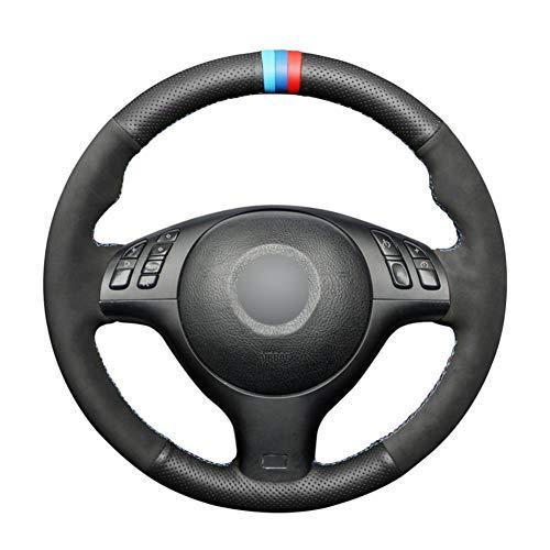 NFRADFM Cubierta del Volante del Coche de Cuero Cosida a Mano, para BMW M Sport E46 330i 330Ci E39 540i 525i 530i M3 E46 M5 E39 Auto Parts
