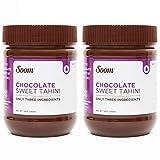 Soom Foods Chocolate Tahini Halva Spread, Dairy-Free, 12oz (Pack of 2)