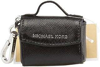 Michael Kors 32H5SKCK3V Ava Black Saffiano Leather Key Ring