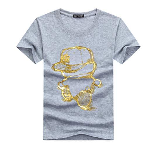 Männer T-Shirt Marke Kleidung Geometrie Herren T-Shirt Loser Druck T-Shirts männlich