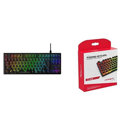 【日本語配列 キートップセット】HyperX Alloy Origins Core RGB メカニカルゲーミングキーボード テンキーレス HX-KB7RDX-JP HyperX ABSプディングキートップ フル108キーセット HKCPXA-BK-JP/G