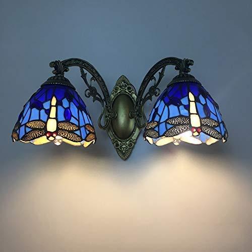 FengLing Wandleuchte Tiffany Lampe Libelle Wandlampe Schlafzimmer Licht Hall Light Retrol Licht LED Tiffany Stil Für Haus, Bar, Restaurants-F