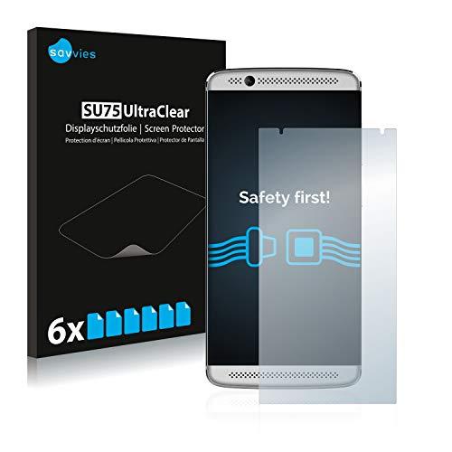 Savvies 6X Schutzfolie kompatibel mit ZTE Axon 7 Mini Bildschirmschutz-Folie Ultra-transparent