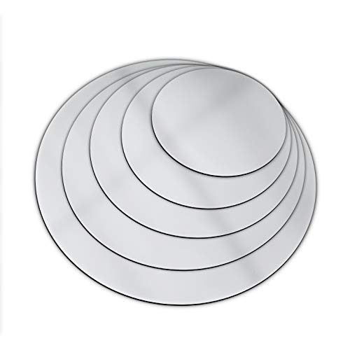 SPEEDYORDERS Round Acrylic Mirror Sheet Circle Mirror 18 inches Diameter, 1/8' Thick Shatterproof Round Mirror Silver Finish Ideal for Home, Wedding, Centerpiece, Table, Decoration