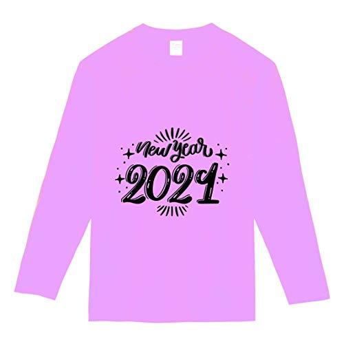 【】選べる6色 2021 新年 丑年 おもしろ tシャツ Tシャツ メンズ レディース キッズ 長袖 子供 大人おしゃれ t shirts tsyatu オリジナル お正月 年賀 年末 パーティー ギフトプレゼント プリントTシャツlt102-s02 (ピ