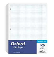 Start the school year with mega-packs of Oxford loose leaf filler paper that give you 400 double-sided, graph ruled sheets Standard 4 x 4 graph-ruled paper is a staple for elementary math, geometry, calculus, trigonometry, physics, and the arts 8-1/2...