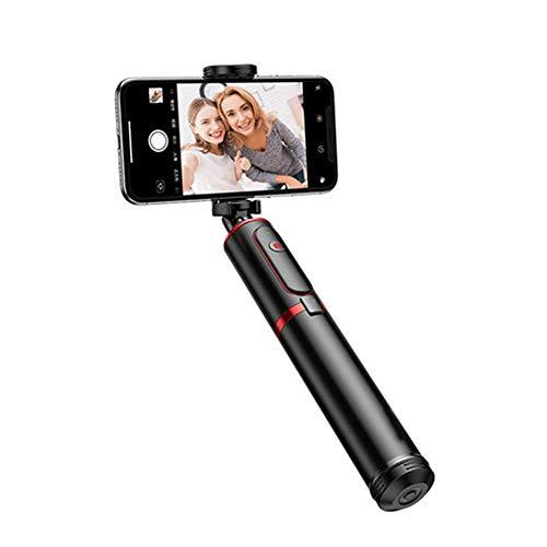 Baoniansoo Trípode Bluetooth para Selfie Stick, Stick para Selfie expansible Integrado de Aluminio Ligero, Selfie para Control Remoto de 5 m, rotación de 360 Grados para Disparar fácilmente