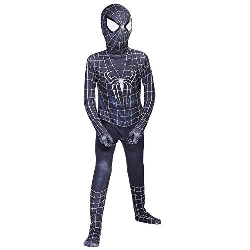 Los aficionados Disfraces Cosplay negro SpiderMan Venom simbiosis hombre araña partido del super héroe de película Body vestido de lujo del mono para los regalos de los muchachos,Kids/L(125~135CM)