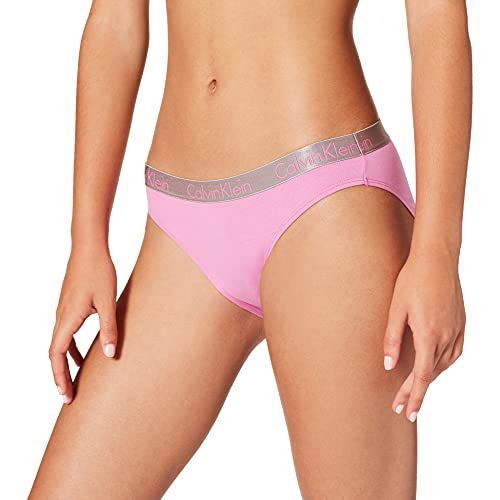 Calvin Klein Bikini Ropa Interior, Lluvia Lila, S para Mujer