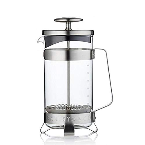 Best Deals! XXDMZ French Press Coffee Maker -Stainless Steel + Borosilicate French Presses Coffee Po...