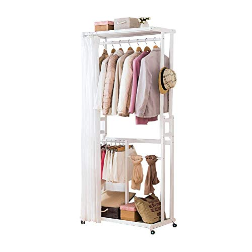 N/Z Living Equipment Coat Racks Coat Rack Multifunctional Simple Hanger Floor Solid Wood Hanger Bedroom 90X52X210cm