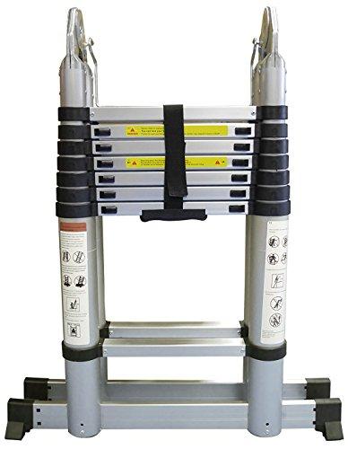 はしご兼用脚立 スーパーラダー 5m アルミ製 重量18kg 折り畳み式 伸縮タイプ 安全ロック付き 耐荷重120kg ...