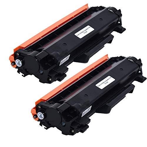 Pure-color vervanging voor Brother TN2420 TN2410 tonercartridges compatibel voor Brother HL-L2375DW DCP-L2550DW MFC-L2715DW MFC-L2750DW HL-L2386DW HL-L2385DW HL-2370DW HL-L2350DW (2 stukken,zwart)