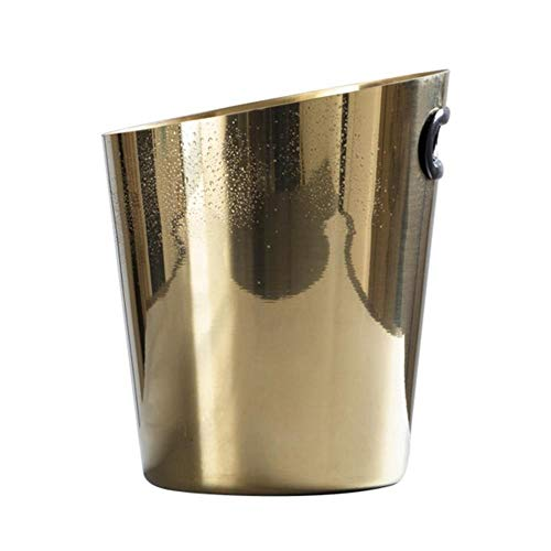 Generic Brands Household & Kitchen & Dining & Outdoors & Party Metal Ice Bucket for Cocktail Bar.Frozen Wine and Champagne,Free Ice Bucket Tongs and Scoop