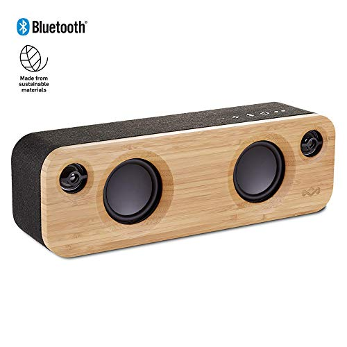 House of Marley Get Together Mini, tragbare Bluetooth Box, 2,5 Zoll Subwoofer & 1' Hochtöner, 10 Std. Akkulaufzeit, Aux-In, Laden per USB, Lautsprecher Telefonie für iPhone, iPad, Samsung etc, black