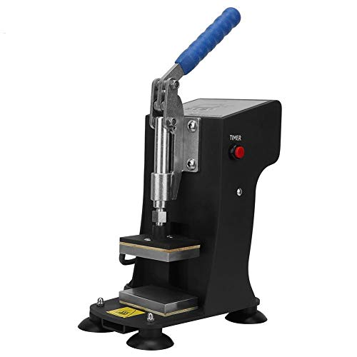 Hitzepressemaschine,Mini Tragbare Manuelle Dual Aluminiumplatten 500 KG Druck Heizung Presse Maschine mit Digital LED Control Panel für Haushalt Büro Hitzepresse Kolophonium (EU-Stecker)