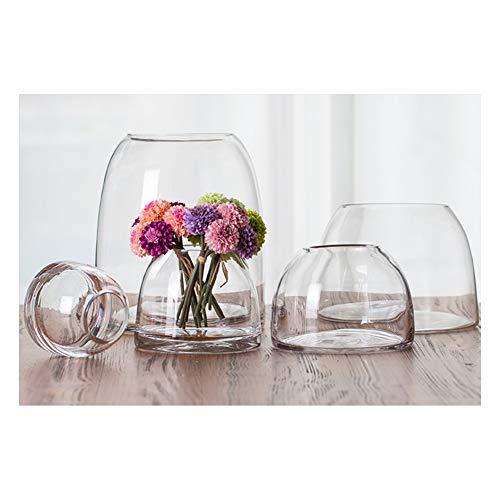 XJG Mini Glas Aquarium, transparente Glas ökologische Flasche, Vase mit hydroponisch getrockneten Blumen, Dekoration für Wohnzimmer Schlafzimmer-Combination*5
