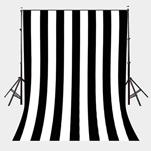 EdCott 5X7ft Schwarzweiss-Streifen-Hintergrund-Geburtstags-Hochzeits-Foto-Stand-vertikale Streifen-Partei-Fahnen-Clipart-Fotografie-Hintergründe