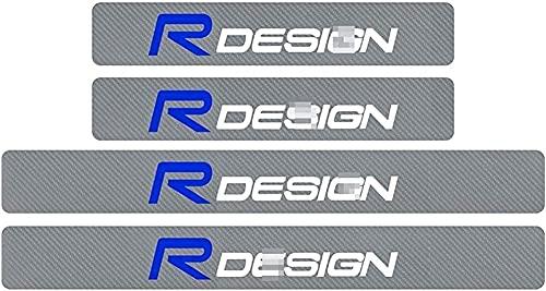 4 PCS Car Fibra De Carbon Estribos Coche Tiras Umbral, para Volvo Xc90 S60 Xc60 V70 S80 S40 V50 V40 V60 C30 S70 Protector AntiarañAzos Styling Decorativos Accesorios