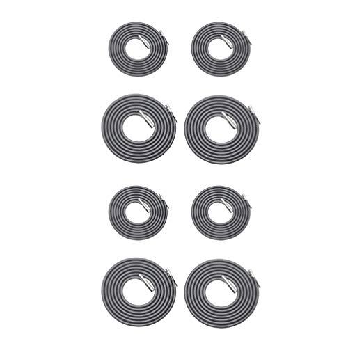 VOSAREA 8 Piezas de Cables de Repuesto para Silla de Gravedad Cero Cordones de Repuesto Cuerdas elásticas Kit de reparación reclinable para sillón (Gris Oscuro)