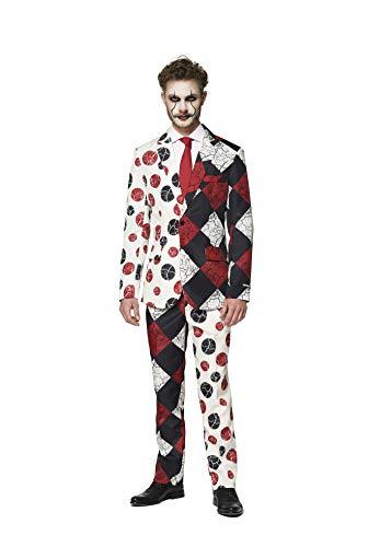 Suitmeister Halloween Anzüge - Red Clown - Mit Jackett, Hose und Krawatte - S