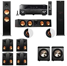 Dolby Atmos 7.2.2 Klipsch RP-280F Tower Speakers PL-200 withYamaha RX-A860