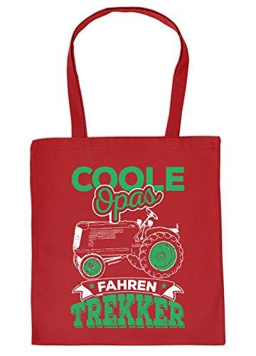 Boer boodschappentas als geschenk stoffen tas coole opas rijden trekker verjaardagscadeau boer boeren