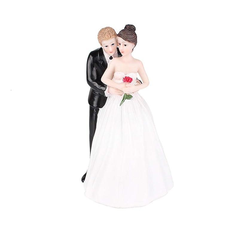 CheeseandU Bride&Groom Figurines Romantic Bride and Groom Wedding Cake Topper Funny Resin Couple Hug Kiss Bridal Show Stand Cake Topper Wedding Party Engagement Anniversary Decoration,Back Hug