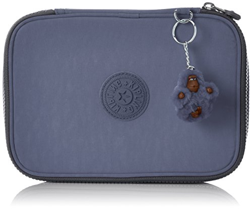 Kipling 100 Pens Astuccio, 25 cm, Blu (True Jeans), sintetico