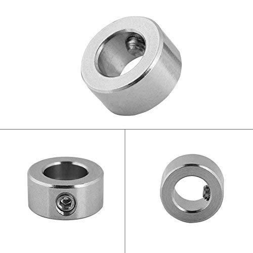 Oumij 5 Pcs 8mm Shaft Lock Collar T8 Lead Screw Lock Ring Stainless Steel Isolation Suitable for 8mm T8 Lead Screw Total 5pcs in one pack for 3D Printer