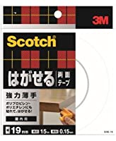 3M はがせる両面テープ 強力薄手(SRE-19) 19mm×15m 小箱10個入り