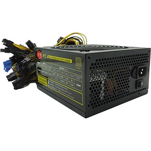 1650W ATX PC-Netzteil Bitcoin Mining-Netzteil PC-Netzteil Computer Mining Rig 6/8 Mehrere Grafikkarten ATX Ethereum Coin 4-poliges Netzteil, bis zu 90% Wirkungsgrad