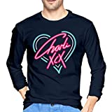 BE-AUTIFUL Charli-XCX Men's Cool Long Sleeve T-Shirt Navy S