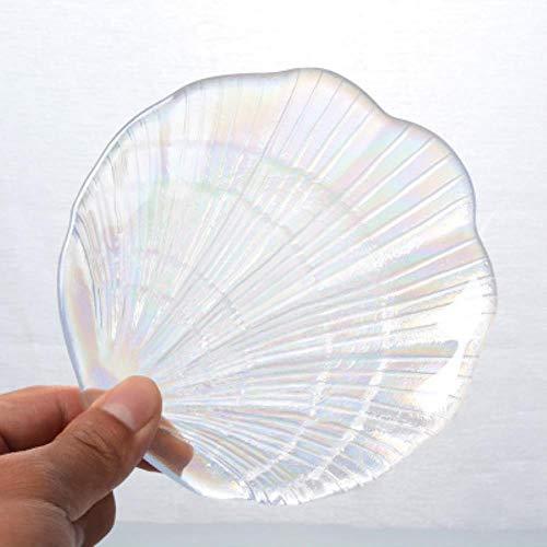 Regen Symfonie Shell Glas Schotel Dessert Snack Plate Sieraden Opslag Lade