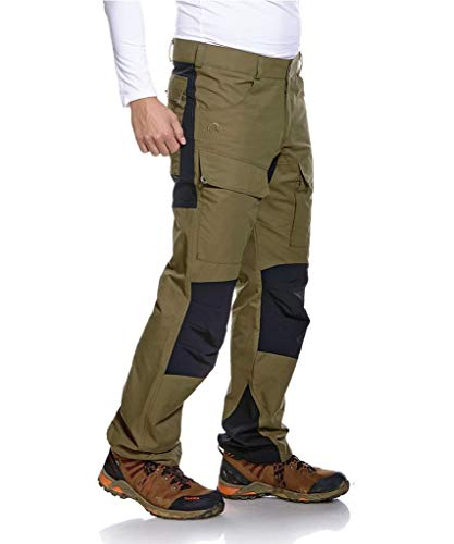 Tatonka Wanderhose Greendale M's Pants - Outdoor-Hose mit elastischen Softshell-Einsätzen und Seitentaschen - Größe 46 - Herren - oliv