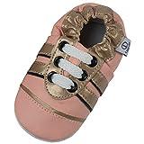 Lappade Zapatillas de piel para niñas, zapatillas para gatear, para aprender a andar, con suela de piel, tallas 19-31, color, talla 19/20 EU