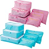 Packing Cubes 12 Pieces (2 Sets of 6 PCS)- JuneBugz Light Weight...
