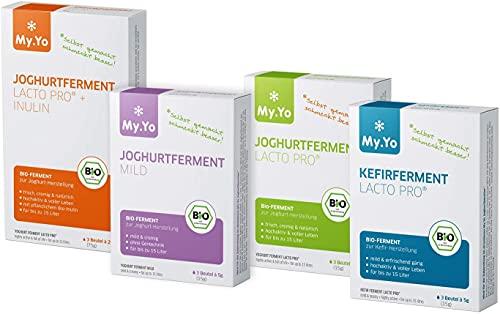 My.Yo - Bio Joghurtfermente 4er-Set | 4 Sorten à 3 Beutel | Ferment für selbst gemachten Joghurt