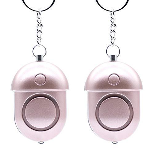 Kampre 2 stuks persoonlijke waarschuwing zelfverdedigingswaarschuwing hoog decibel keychain noodsituatie anti-aanval waarschuwing met 80 lumen LED-lampen