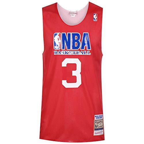 Mitchell & Ness NBA All Star #3 Patrick Ewing Reversible Practice - Camiseta de Baloncesto para Hombre, Color Rojo, tamaño Large