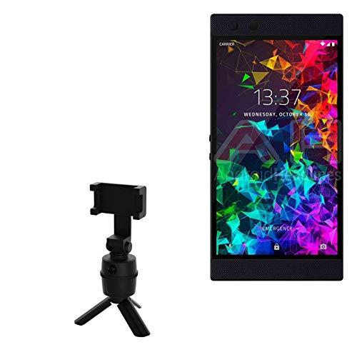 Suporte e suporte Razer para celular 2, BoxWave [Suporte PivotTrack para selfie] Suporte de rastreamento facial pivô para Razer Phone 2 - Preto Jet